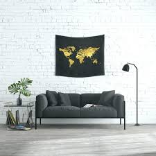 black decor gold world map wall art black decor office bathroom glam large maps