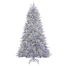 sterling 7 5 ft indoor pre lit led silver parkview pine