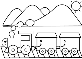 colouring pages transportation train printable free kids girls
