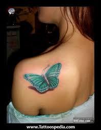 3d effect butterfly tattoos