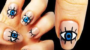 eye occhio nail art tutorial youtube