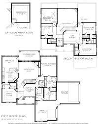 House Plans With Media Room 2 Story 3885 Square Foot Air Conditioning Optional Media Room