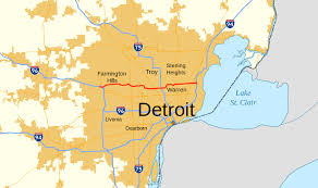 Map Of Metro Detroit by Interstate 696 Wikipedia
