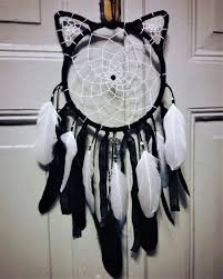 dream catcher with cat ears home decor home design wall hanging