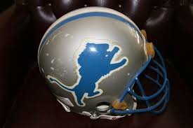 lions thanksgiving day game detroit lions game used nfl helmet ace rare collectibles