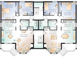 house plans with basement apartments eplans new american house plan apartment building 7624