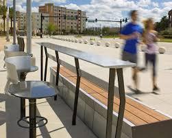 stand up bar table contemporary high bar table metal mesh rectangular urbanedge