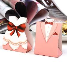 Where To Buy Party Favors Aliexpress Com Buy Pink Tuxedo Dress Groom Bridal Candy Boxes