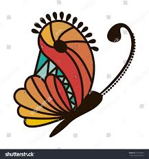 colorful abstract monarch butterfly design stock vector 523952863