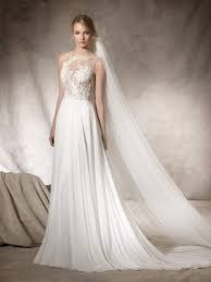haiko is a flare wedding dress with intricate workings in gauze
