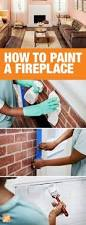 Cleaning Bricks On Fireplace by Try Repainting Your Brick Fireplace To Add A Bright Focal Point To