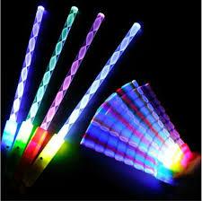 new styles led cheer rave glow sticks acrylic spiral flash wand