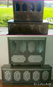 this is a vintage bar refinished with dixie belle chalk paint