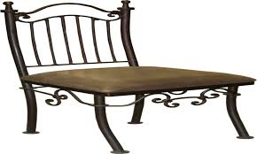 voguish wrought iron style settee metal patio furniture to wrought