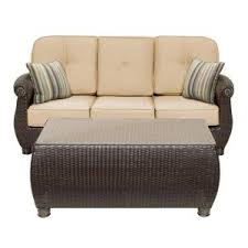 wicker outdoor sofa la z boy new boston 2 piece wicker outdoor sofa and coffee table