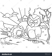 owls coloring pages vector stock vector 311139815 shutterstock