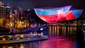Boat Trip Amsterdam Light Festival Spaces