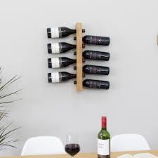 floating oak wall mounted wine rack wine bottle rack wine