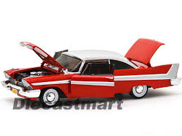 eBay | AUTOWORLD 1:18 1958 PLYMOUTH FURY CHRISTINE CAR RED DIECAST ... - L04