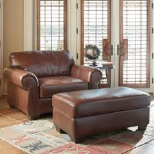 Leather Armchair With Ottoman Luxury Leather Chair And A Half With Ottoman About Remodel Famous