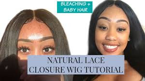 how to make baby hair make your lace closure wig look bleaching baby hair