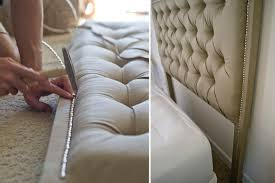 Upholstered Nailhead Headboard by Sarah M Dorsey Designs Tufted Headboard With Nailhead How To
