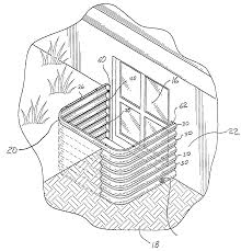 Basement Window Well Art by Patente Us20040098929 Crawl Access And Basement Window Well