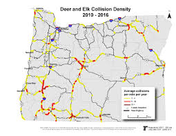 State Of Oregon Map by Oregon Department Of Transportation Wildlife Crossings Geo