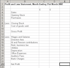 Project Profit And Loss Template Excel Retail Accounting 101 Profit And Loss Statement Retail Accounting