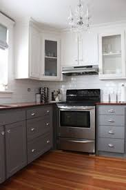 Kitchen Cabinets Grey Stylish Two Tone Kitchen Cabinets For Your Inspiration Elegant