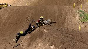 ama outdoor motocross lucas oil pro motocross james stewart crash 450 moto 1