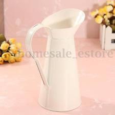 shabby chic vintage cream metal jug vase flower wedding table