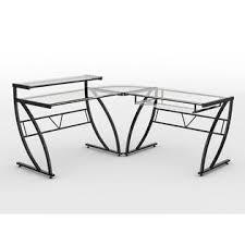 Z Line Belaire Glass L Shaped Computer Desk Z Line Designs Belaire Glass Top Corner Computer Desk Black