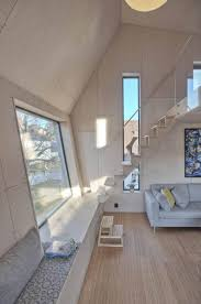 Home Addition Design Angular Home Addition With Plywood Lined Interior
