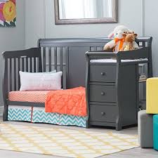 Baby Crib With Changing Table Storkcraft Calabria Crib N Changer Baby