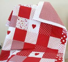 Girls Patchwork Bedding by Baby Patchwork Quilt Red Nursery Bedding By Littlecottonshop