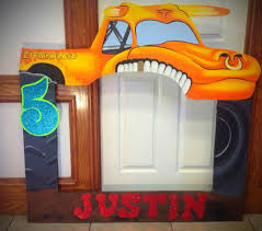 monster truck jam party supplies el toro loco monster jam monster trucks photo frame prop for