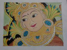 Mural Painting On Canvas by Kerala Mural Design Painted With Artists U0027 Acrylic Colours Youtube