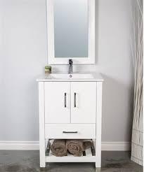 Bathroom Vanities 24 Inches Wide Wyndenhall Windham Black 2 Door 24 Inch Bath Vanity Set With For