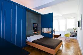 fold down bed bedroom contemporary with blue casters coffee table