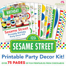 new in the shop sesame street party printables kit