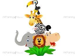 Jungle Wall Decals Safari Wall Decals For Kids Vdi1014en Artpainting4you Eu