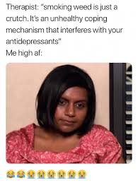 Therapist Meme - therapist smoking weed is just a crutch it s an unhealthy coping