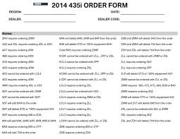 2014 bmw 435i and 428i order guide options colors and packages
