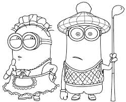 minions coloring pages free download