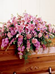 casket spray twigs net floral cascade casket spray