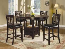 tall kitchen island table dining room espresso finish tall kitchen table and chairs set