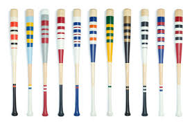 mitchell bat co striped baseball bats hand painted baseball bats