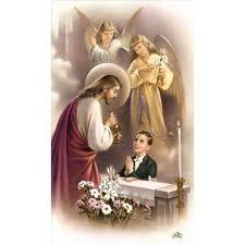 boy communion traditional personalized prayer cards priced