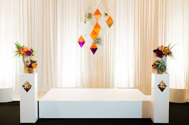 wedding backdrop modern modern geometric wedding with a bright color palette ruffled